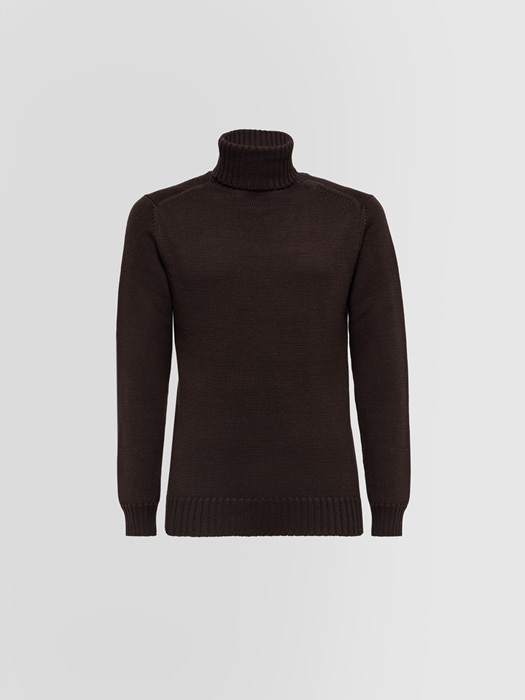 ALPHA STUDIO TURTLE NECK SWEATER IN MERINO WOOL
