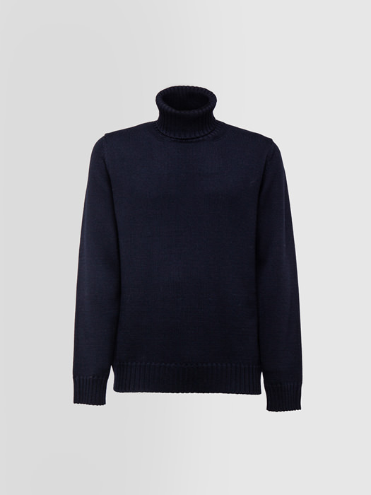 ALPHA STUDIO TURTLE NECK SWEATER IN THICK WOOL