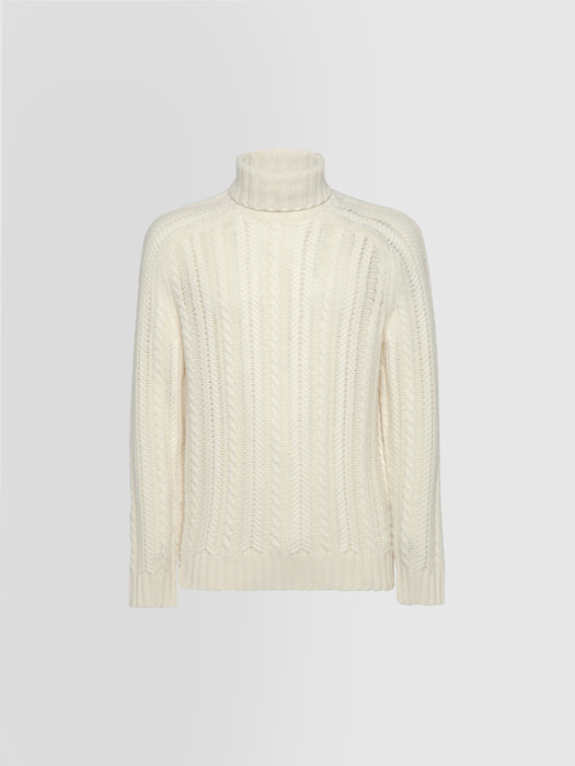 ALPHA STUDIO LUXURY LABEL CASHMERE STITCH TURTLE NECK SWEATER