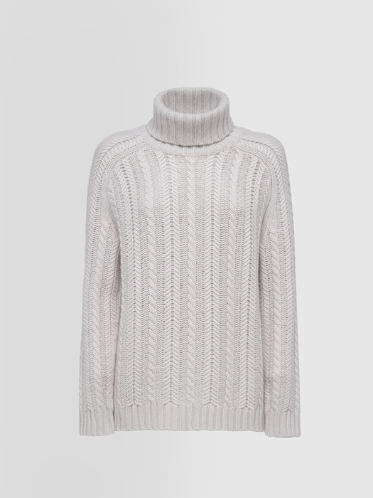 ALPHA STUDIO LUXURY LABEL SAINT MORITZ TURTLE NECK SWEATER IN CASHMERE