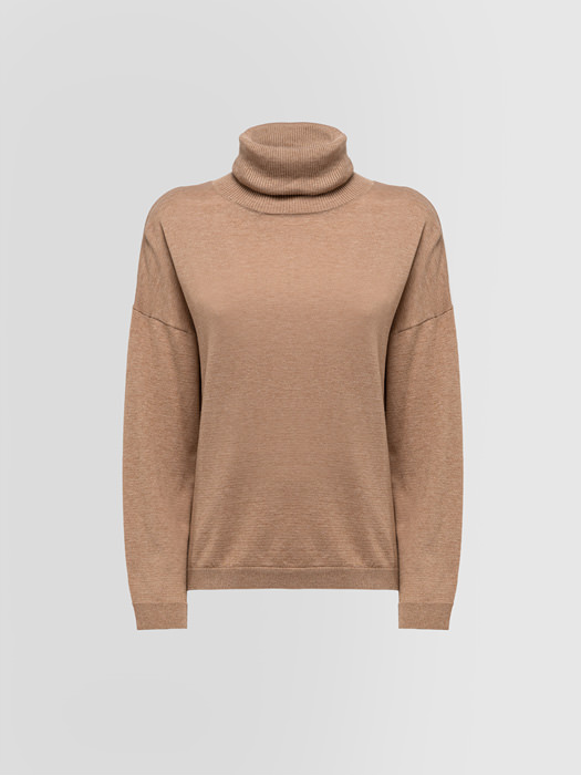 ALPHA STUDIO MID SEASON TURTLE NECK SWEATER IN COTTON AND WOOL