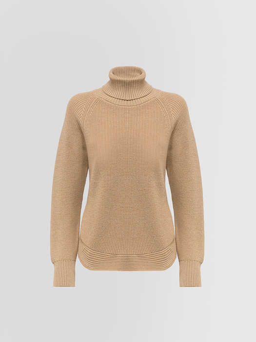 ALPHA STUDIO FISHERMAN'S RIB STITCH TURTLE NECK SWEATER