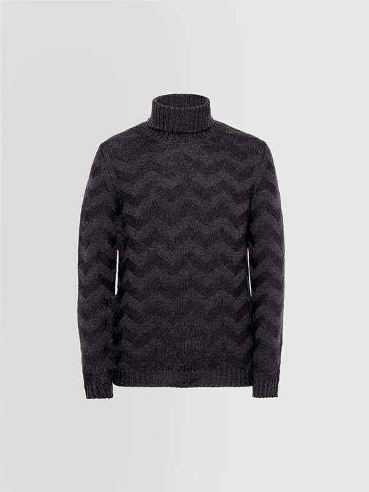 ALPHA STUDIO RESCA TURTLE NECK SWEATER IN MERINO WOOL