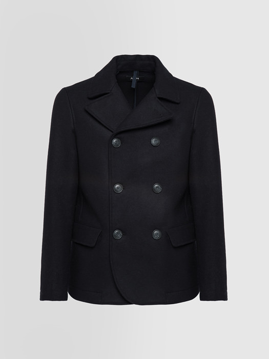 ALPHA STUDIO DOUBLE-BREASTED JACKET IN VIRGIN WOOL