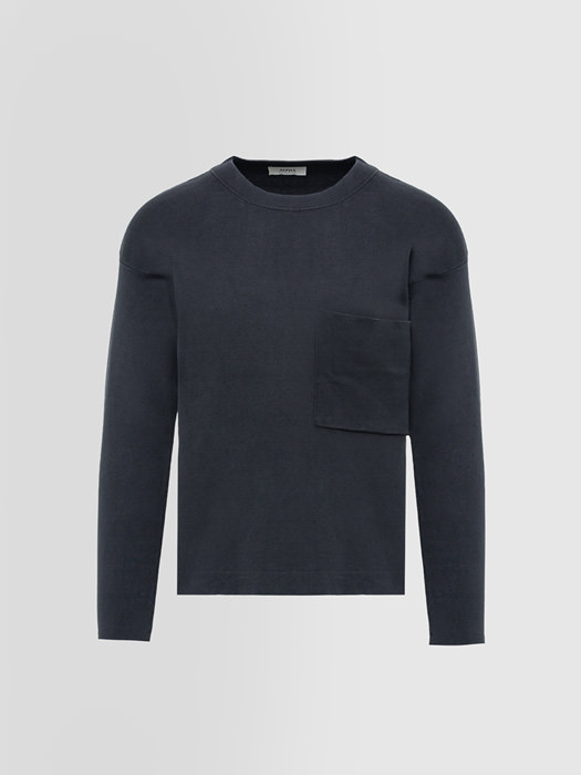 ALPHA STUDIO BASIC CREW NECK IN DYED COTTON