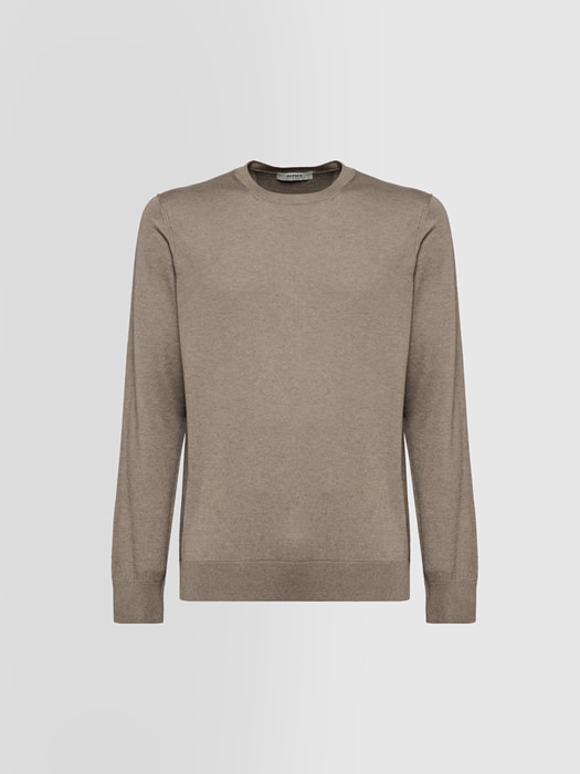 ALPHA STUDIO BASIC CREW NECK IN SILK AND CASHMERE