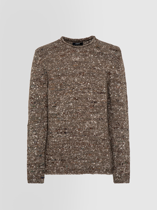 ALPHA STUDIO COMFORT STREET CREW NECK IN WOOL AND SILK