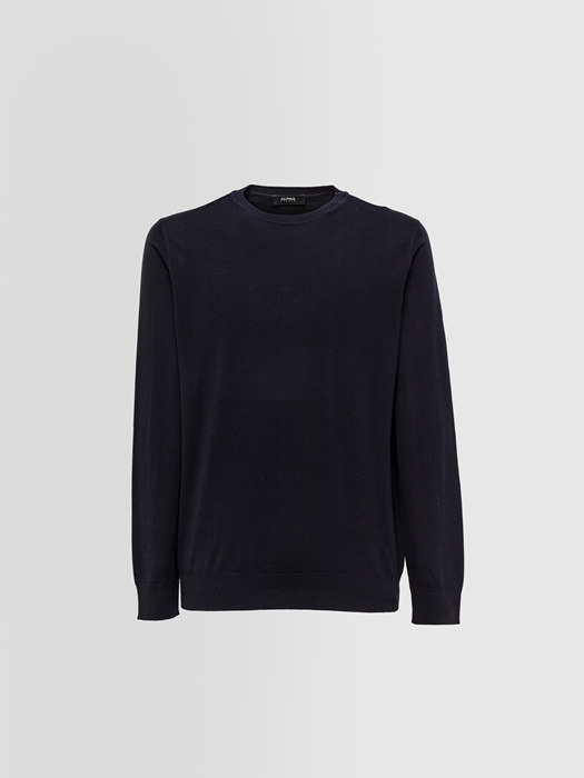 ALPHA STUDIO DELUXE CREW NECK IN MERINO WOOL