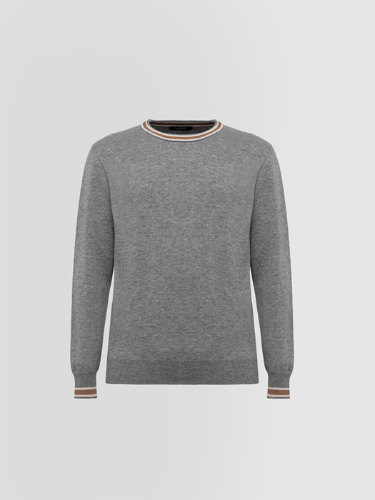ALPHA STUDIO GEELONG REGIMENTAL CREW NECK IN WOOL