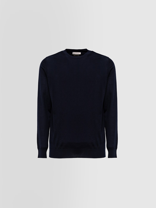 ALPHA STUDIO: CREW NECK IN EXTRA-FINE BRUSHED CASHMERE