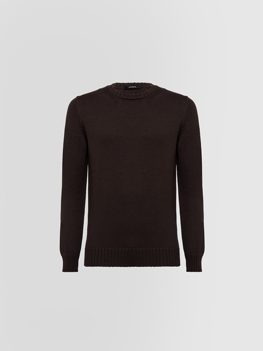 ALPHA STUDIO: CREW NECK IN MERINO WOOL
