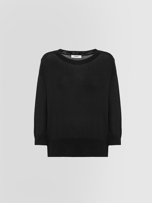 ALPHA STUDIO CREW NECK IN VISCOSE