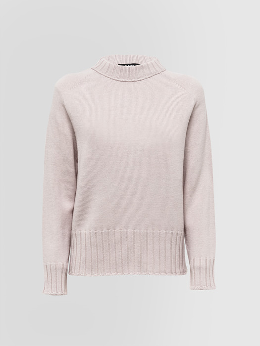 ALPHA STUDIO: INFORMAL CREW NECK IN WOOL