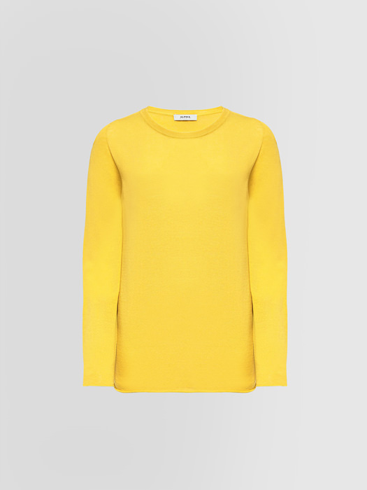 ALPHA STUDIO CREW NECK SWEATER IN CREPE