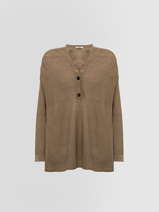ALPHA STUDIO LINKS CREW NECK IN LINEN