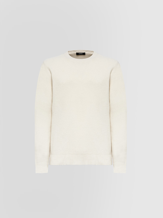 ALPHA STUDIO LINKS NOBEL CREW NECK IN WOOL AND CASHMERE