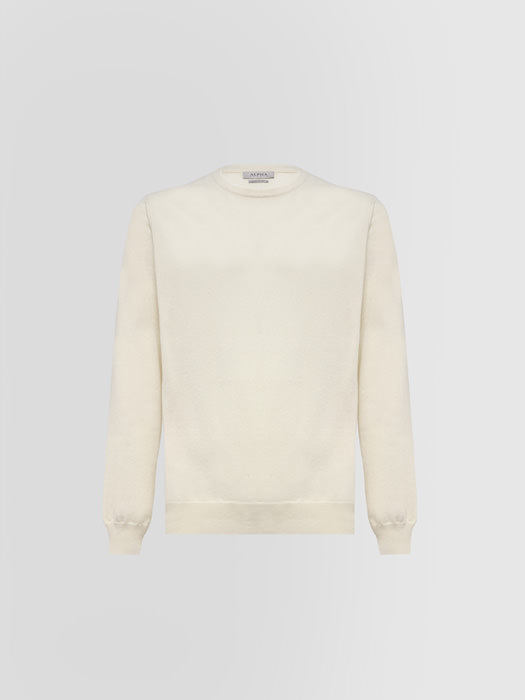 ALPHA STUDIO LUXURY LABEL CREW NECK IN CASHMERE