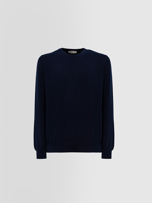ALPHA STUDIO: LUXURY LABEL CREW NECK IN CASHMERE