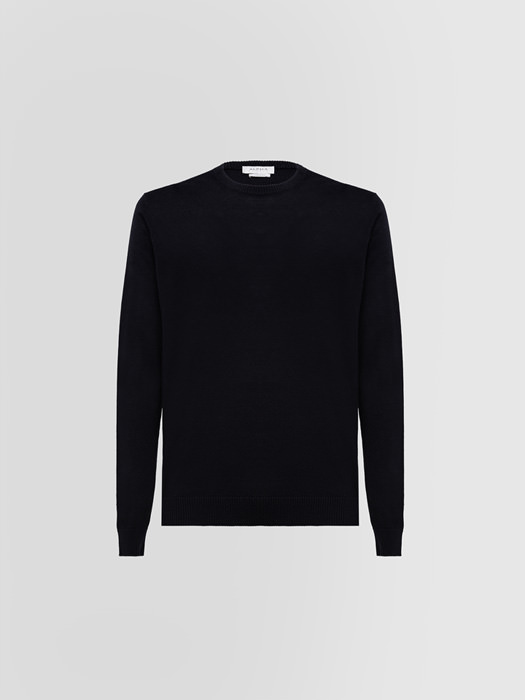 ALPHA STUDIO LUXURY LABEL CREW NECK IN SILK AND EXTRA-FINE CASHMERE