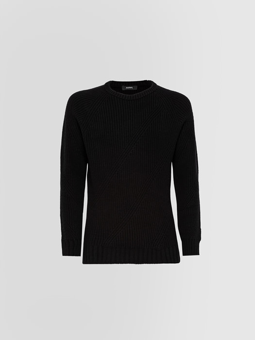ALPHA STUDIO NOBEL CREW NECK IN WOOL AND CASHMERE