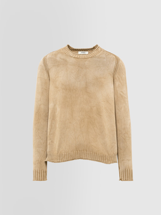 ALPHA STUDIO ROULE FINISH CREW NECK IN DYED COTTON