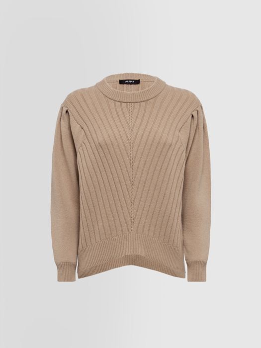 ALPHA STUDIO SPECIAL CASUAL CHIC CREW NECK SWEATER IN MIXED WOOL
