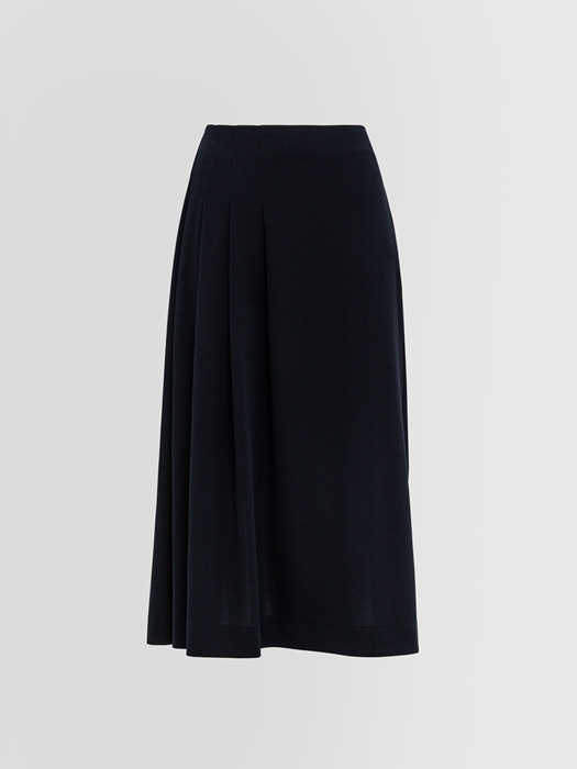 ALPHA STUDIO: CREPON PLEATED SKIRT