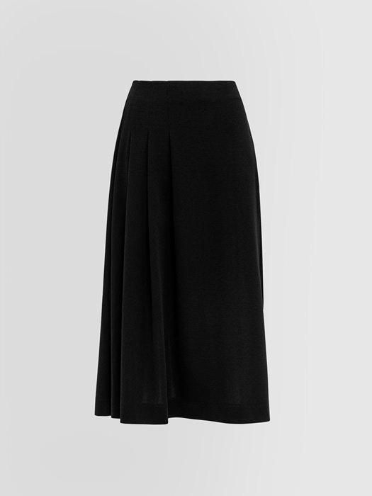 ALPHA STUDIO CREPON PLEATED SKIRT