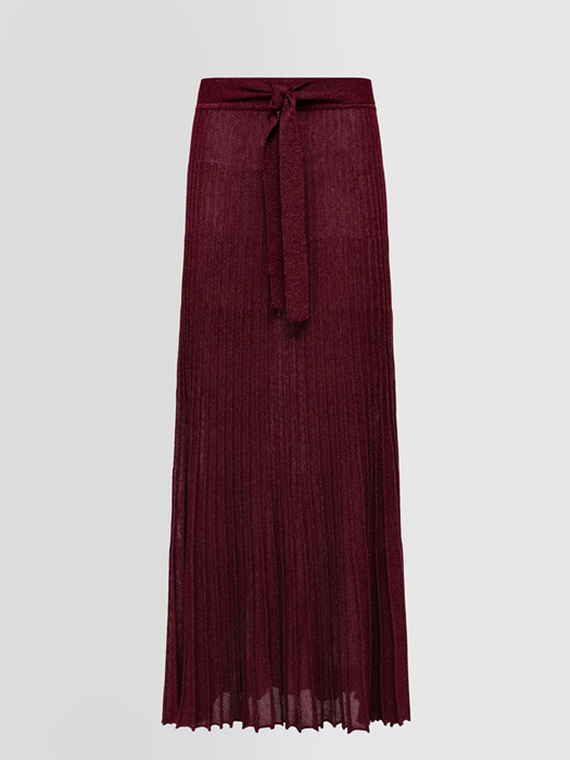 ALPHA STUDIO CANNETTE PLEATED SKIRT IN VISCOSE