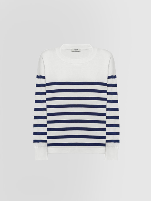 ALPHA STUDIO NEW MARINA BOAT NECK SWEATER