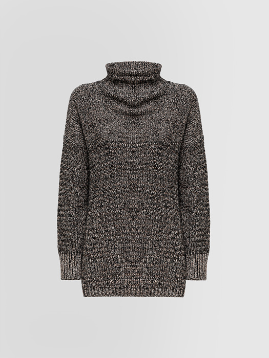 ALPHA STUDIO SALT AND PEPPER TURTLE NECK SWEATER