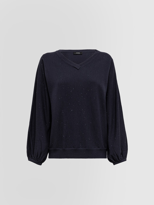 ALPHA STUDIO V-NECK SWEATER IN WOOL