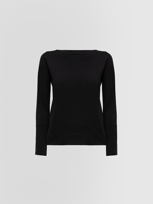 ALPHA STUDIO BOAT NECK SWEATER IN WOOL