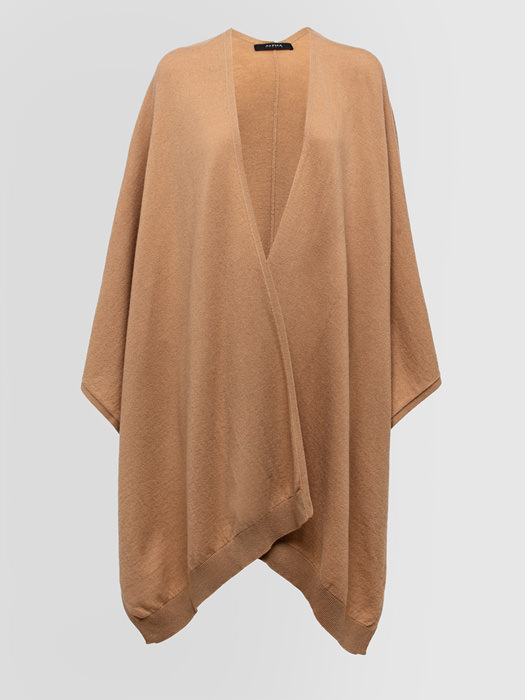 ALPHA STUDIO: COZY CHIC CAPE IN MIXED WOOL