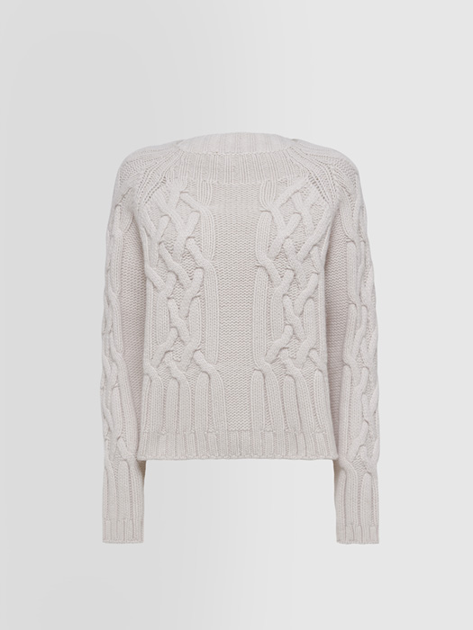 ALPHA STUDIO LUXURY LABEL SAINT MORITZ HALF NECK SWEATER IN CASHMERE
