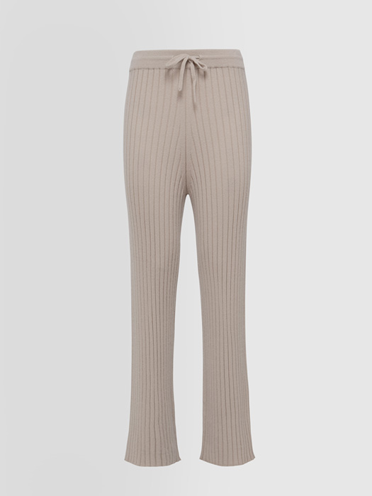 ALPHA STUDIO LUXURY LABEL PANTS IN RIBBED CASHMERE