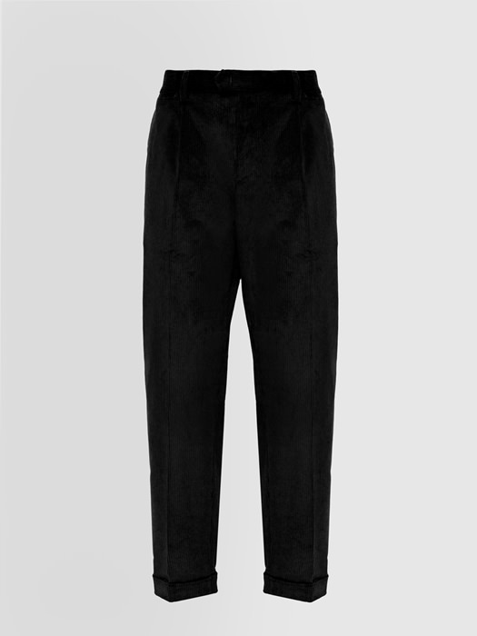 ALPHA STUDIO DARTED PANTS IN VELVET