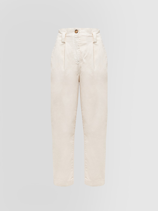 ALPHA STUDIO DARTED PANTS IN FUSTIAN