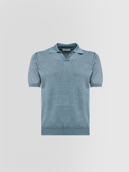 ALPHA STUDIO POLO BASIC IN COTONE DYED