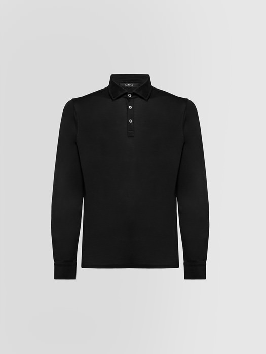 ALPHA STUDIO POLO SHIRT IN MERCERIZED COTTON