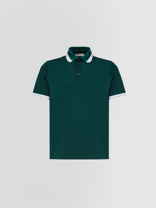 ALPHA STUDIO HEAVY POLO SHIRT IN COTTON