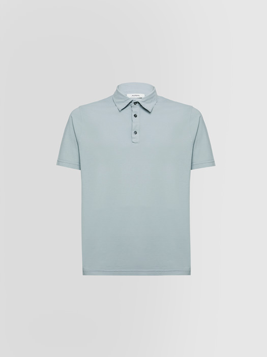 ALPHA STUDIO ICE POLO SHIRT IN COTTON