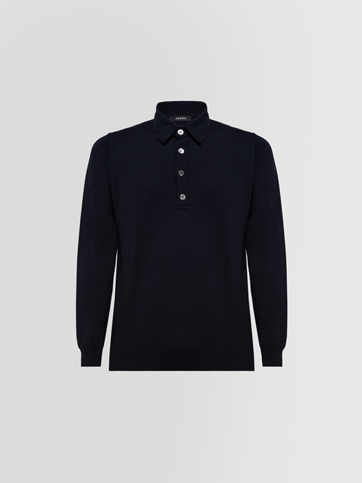 ALPHA STUDIO LUXURY POLO SHIRT IN MERINO WOOL