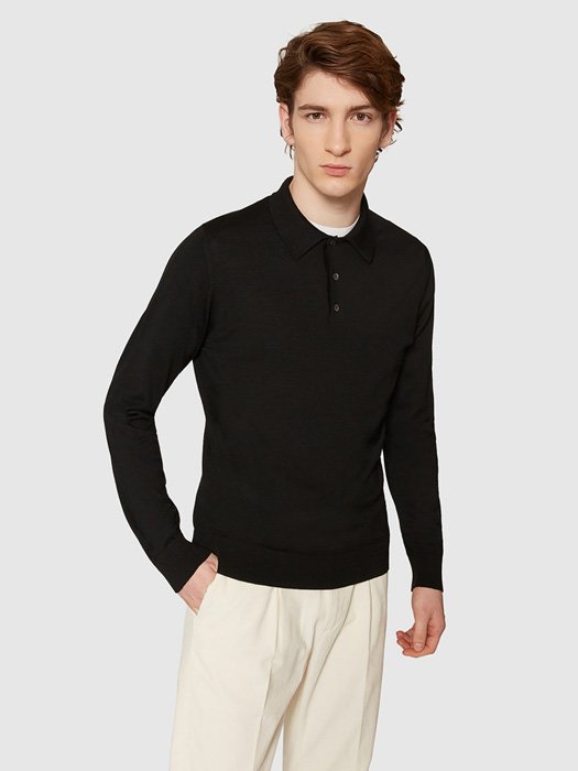 ALPHA STUDIO DELUXE POLO SHIRT IN MERINO WOOL