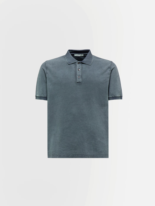 ALPHA STUDIO PIQUE POLO SHIRT IN COTTON