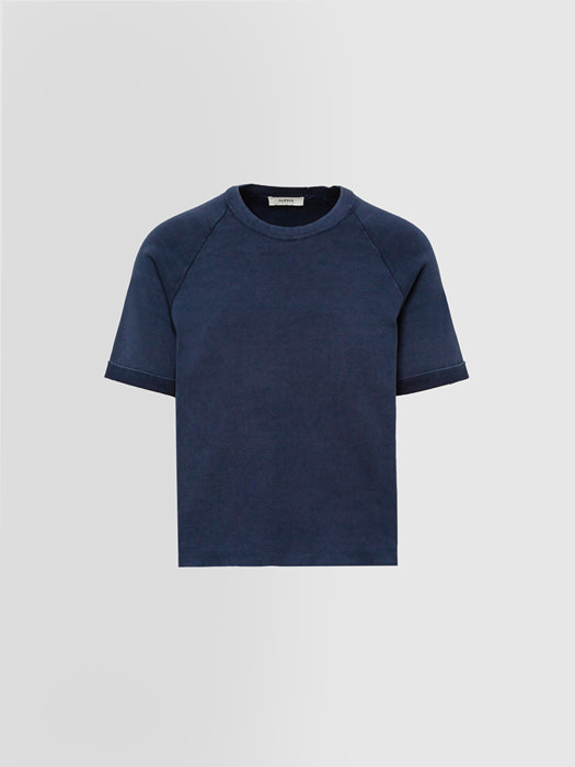 ALPHA STUDIO T-SHIRT BASIC IN COTONE DYED