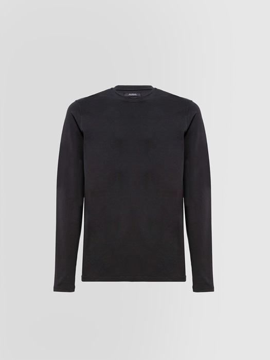 ALPHA STUDIO WINTER CREW NECK T-SHIRT IN COTTON