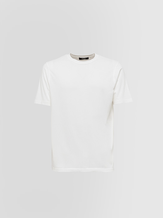 ALPHA STUDIO: WINTER CREW NECK T-SHIRT IN COTTON