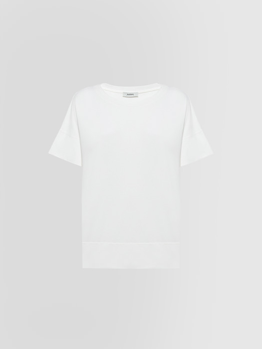 ALPHA STUDIO ICE T-SHIRT IN COTTON