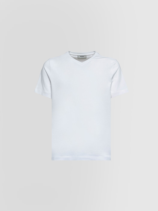 ALPHA STUDIO: T-SHIRT IN COTONE STRETCH